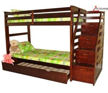 Giường 3 tầng NH-45165 (nâu)